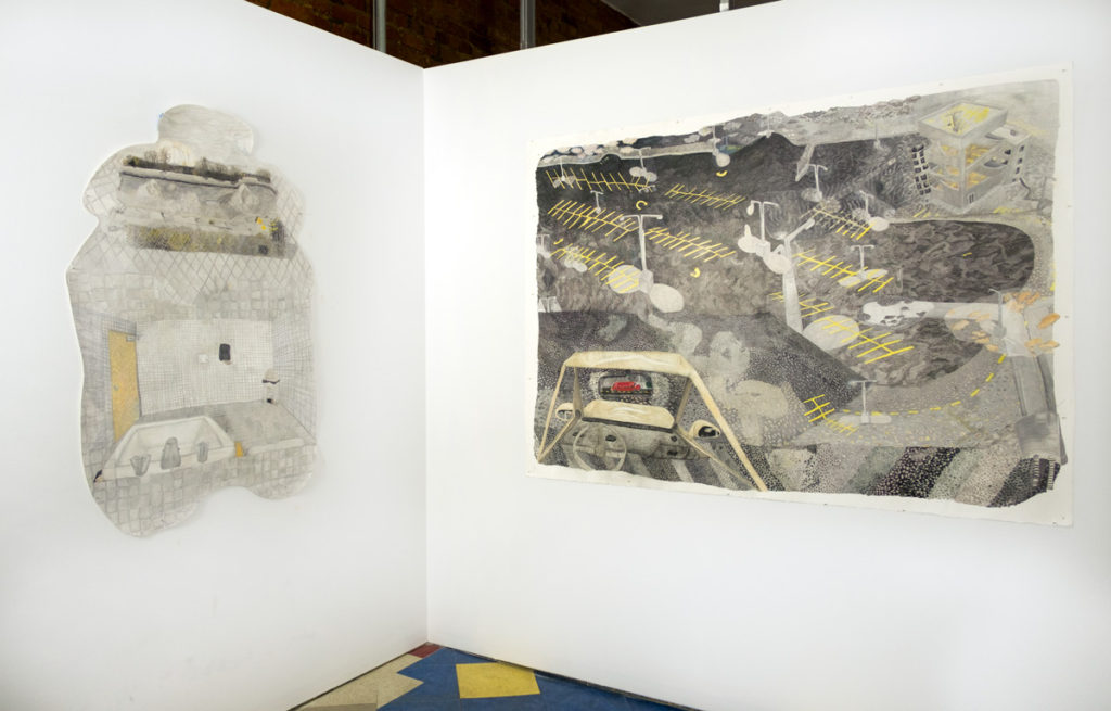 Installation view of