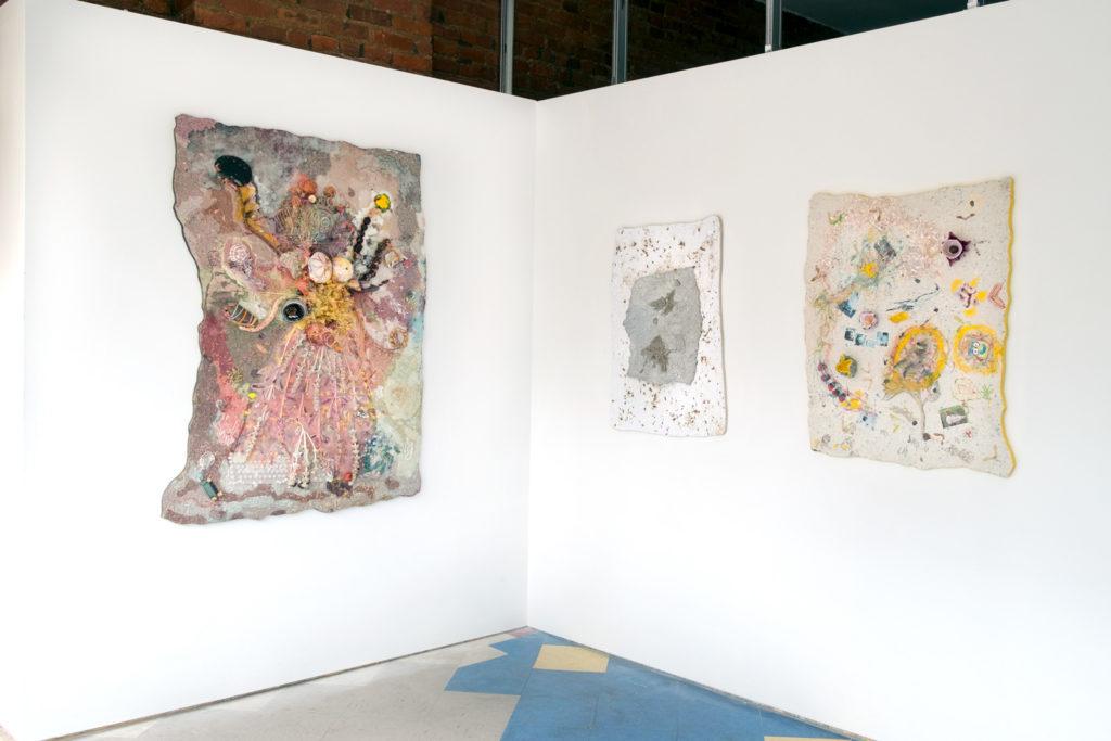 Left to Right: <i>Dance of the Goddess Maya</i>, <i>Waiting, Arising</i>, <i>Alchemy of Mood and Matter</i>