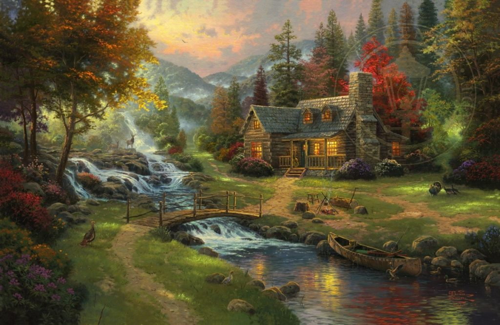 Thomas Kinkade, Mountain Paradise